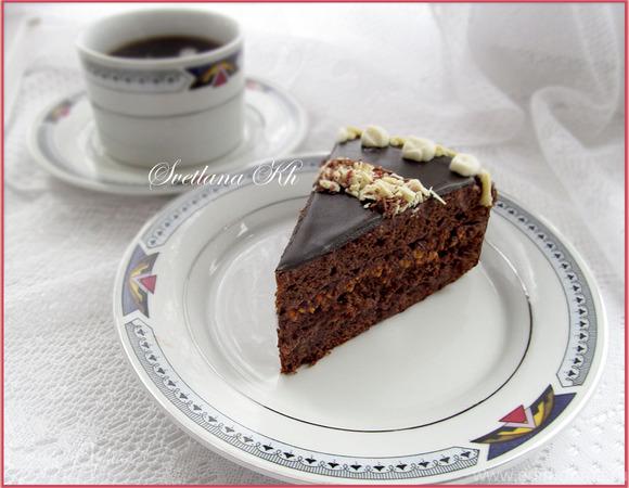 """Торт """"Белое на черном"""""""