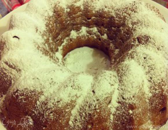 Ромовый пирог с бананами из цельнозерновой муки