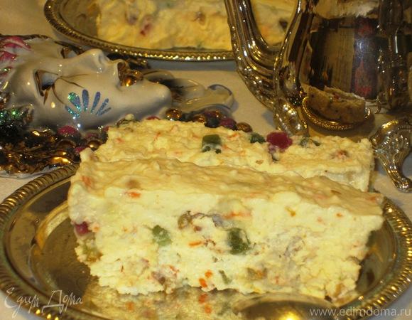 """Сладкий десерт """"Оливье"""" с маскарпоне"""