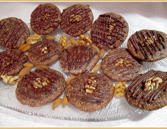 Шоколадно-ореховое печенье без муки