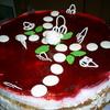 Бисквитный торт-суфле с малиновым желе