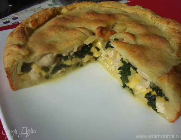 Пирог с мясом «Легче не бывает» Всем За Стол Вкусные