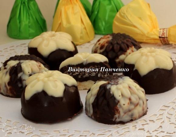 """Шоколадные конфеты с сезамом """"Мраморные"""" и """"А-ля Монблан"""""""