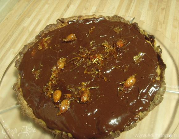 Карамельно-шоколадный тарт