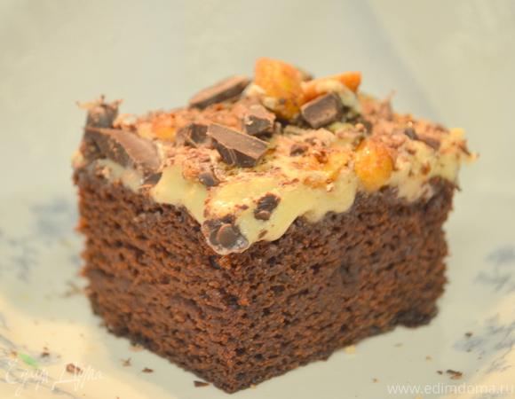 Шоколадный кекс с арахисовым маслом