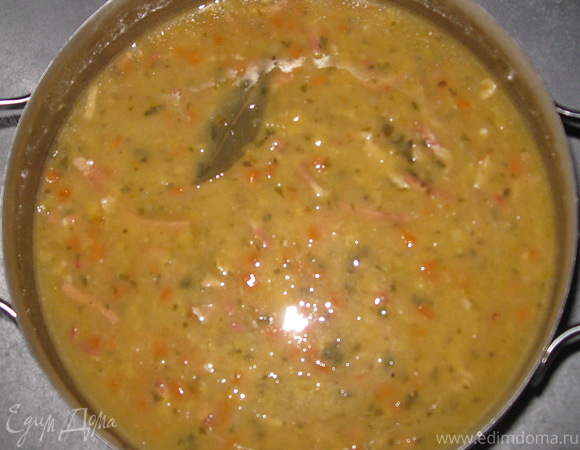 Гороховый суп с грудинкой