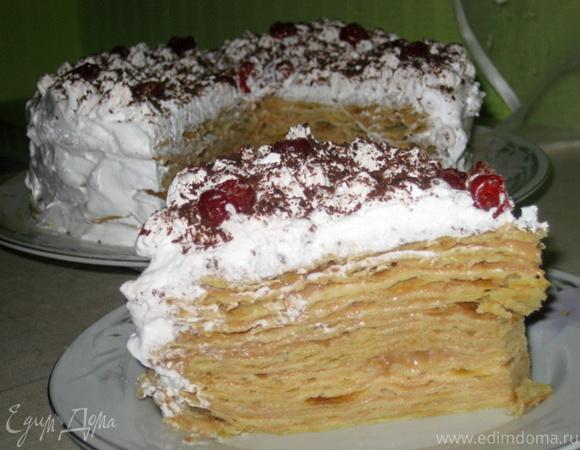 """""""Наполеон Крем-Брюле"""" + скороспелое слоеное тесто"""
