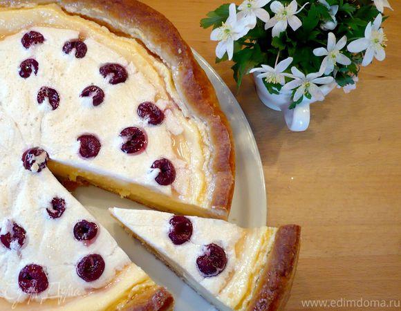 Пирог творожный с пудингом