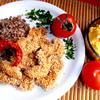 Куриные НАГГЕТСЫ (упрощенный вариант) + сырный салат