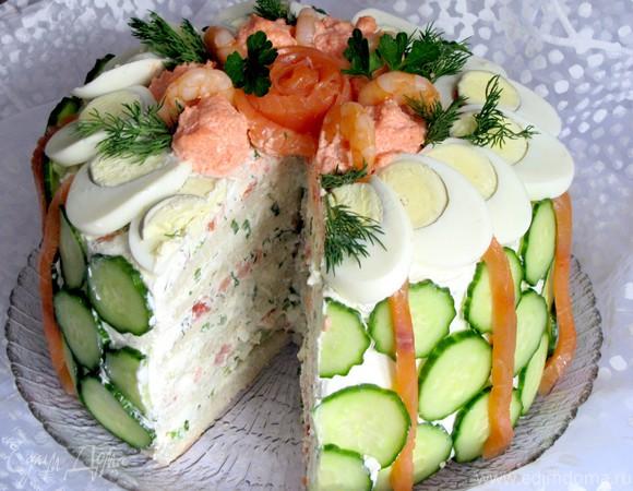 Скандинавский закусочный торт