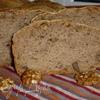 Пшенично-гречневый хлеб с грецкими орехами