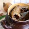 Картофельные блины, тушенные в горшочке с салом (Блiны з бульбы, тушаныя з салам)