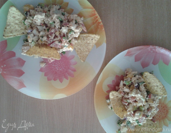 Праздничный салат с мопепподуктами