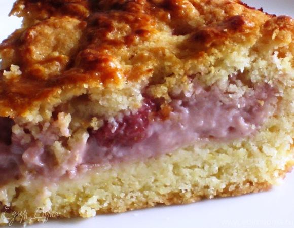 Французский клубничный пирог с заварным кремом