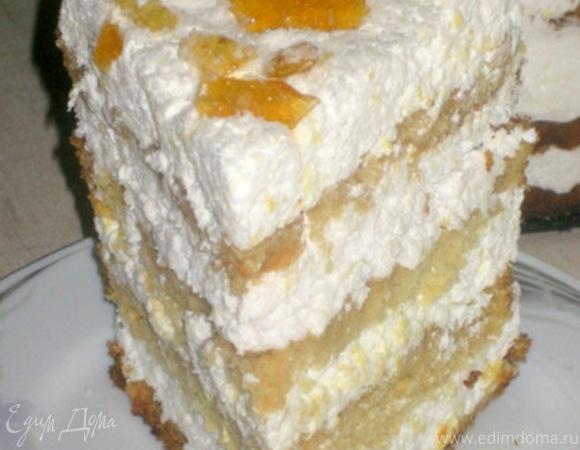 """Торт """"Кокосово-цитрусовое счастье"""""""