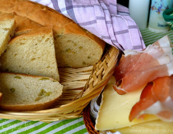 Хлеб с оливками (Pane alle olive)