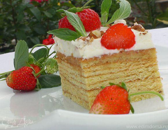 """Торт """"Клубничка на дереве"""" (Baumkuchen)"""