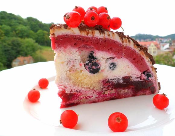 """Ягодно-сливочный торт """"Импровизация"""""""