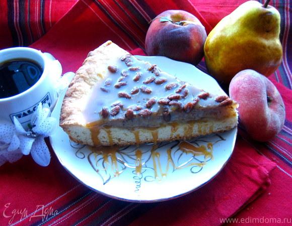 Песочный пирог с банановой начинкой