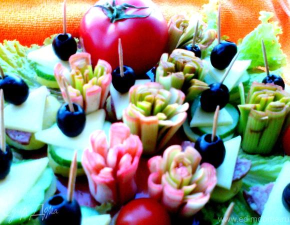 """""""Цветы"""" из лука"""