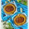 Тыквенные пироги с рубленым мясом и сыром Джюгас