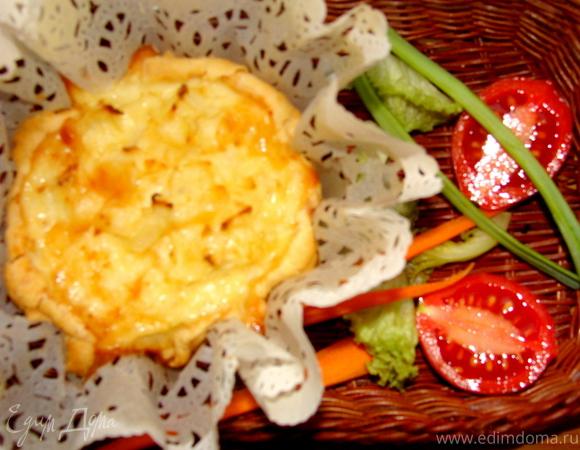 Киш сливочный с цветной капустой и сыром Джюгас