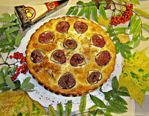 Закусочный тарт с сыром Джюгас и инжиром