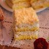 Кокосовое пирожное с нежным сливочным кремом