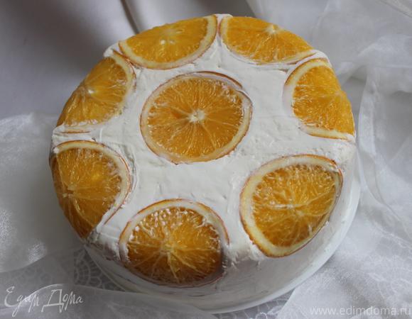 """Торт """"Апельсиновая нежность"""""""
