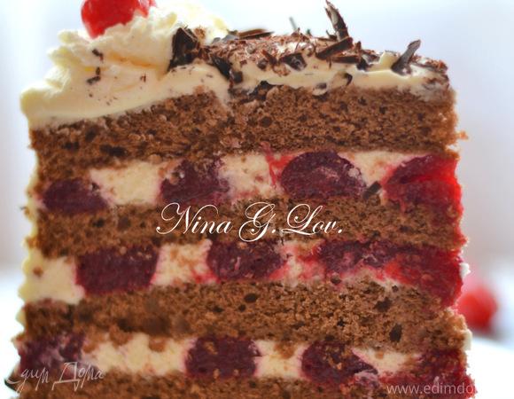 Торт «Черный лес» (Feketeerdő torta)