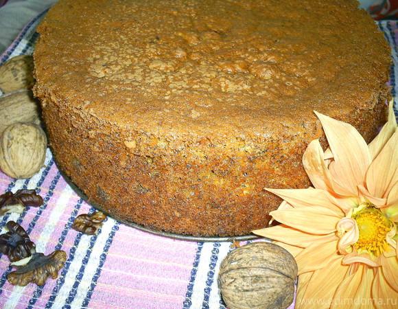 Бесподобный тыквенно-ореховый бисквит