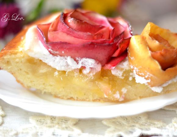 """Нежнейший дрожжевой пирог с яблоками """"Нарядный"""""""