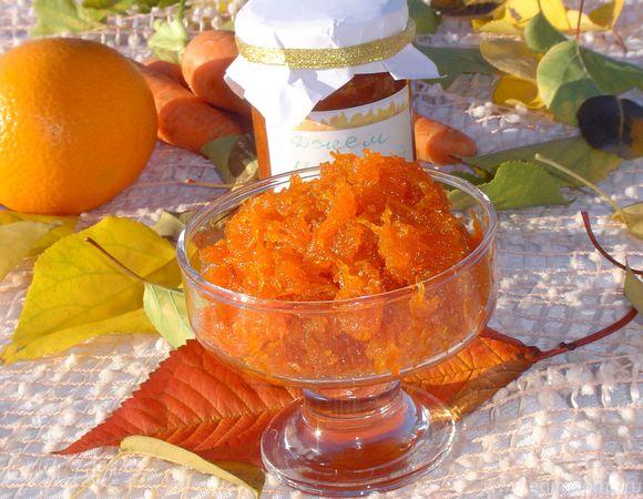 Джем морковный с апельсиновой ноткой