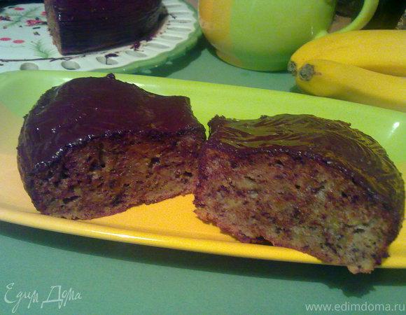 Бананово-шоколадный кекс