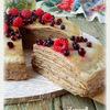 Блинный торт с черносливом
