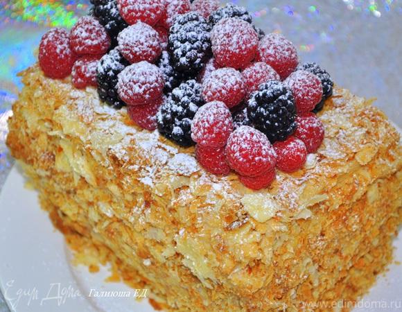 Торт Наполеон на слоеноем тесте от Пьера Эрме