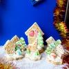 """Расписное печенье и шкатулка """"Новогодний подарочек"""""""