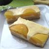Пирог с творогом и персиками