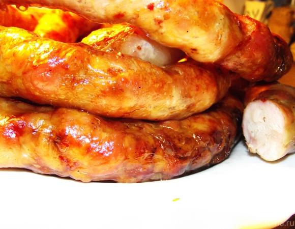 Домашняя колбаса из индейки