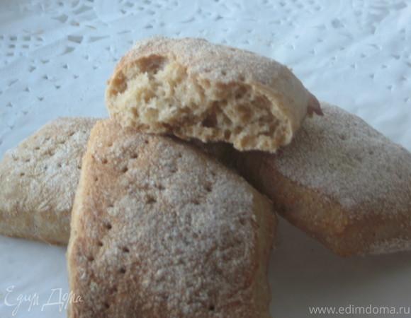 Простые полуржаные хлебцы