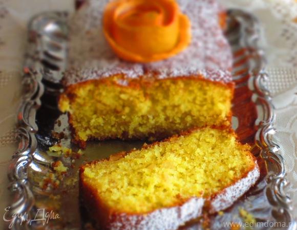 Кекс с апельсиновыми цукатами на рисовой муке