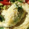 Кальмары, фаршированные морепродуктами, под сливочным соусом