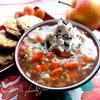 Сладкий суп с рисом, фруктами и ягодами