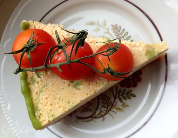 Закусочный творожно-томатный чизкейк с базиликовым курдом