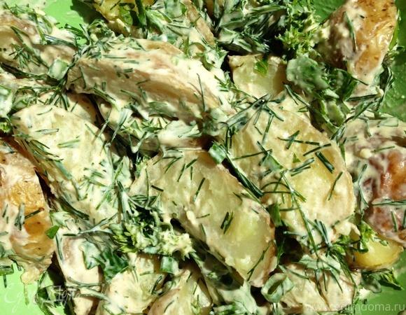 Картофельный салат с заправкой из феты