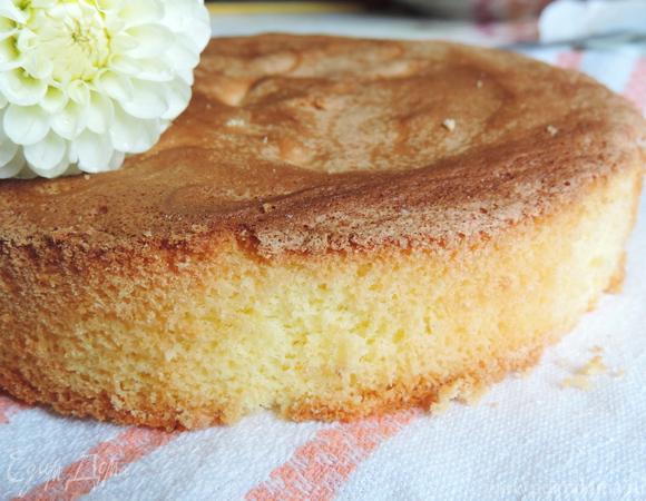 Почти идеальный белый бисквит (тепловой способ приготовления)