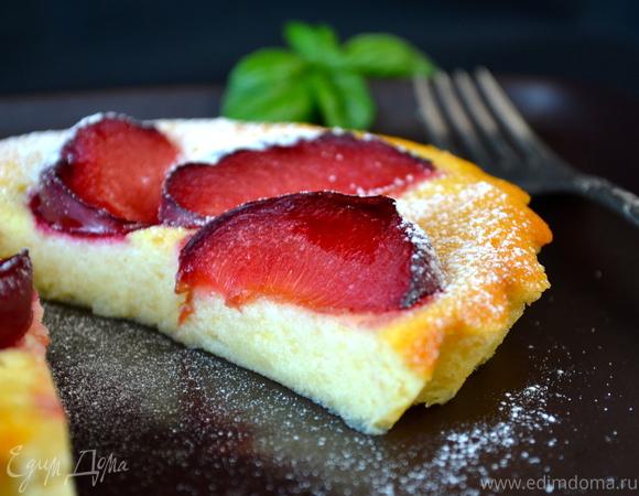 Нежнейшее пирожное со сливами (без муки)