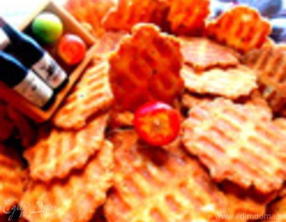 Сырные чипсы на вафельнице