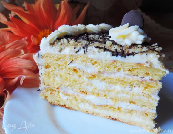 """Творожно-тыквенный торт """"Здравствуй, осень"""""""