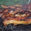 Свиные ребра в медовом маринаде на углях